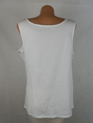 XXL Бяла трикотажна блуза с набори ( с етикет)