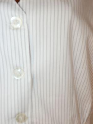 XL-XXL Бял памучен елек с ластик на талията