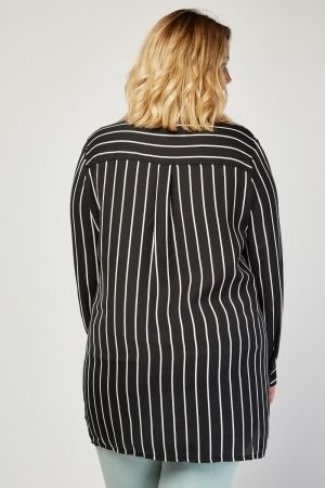 Tie Up Waist Stripe Shirt UK 22-24